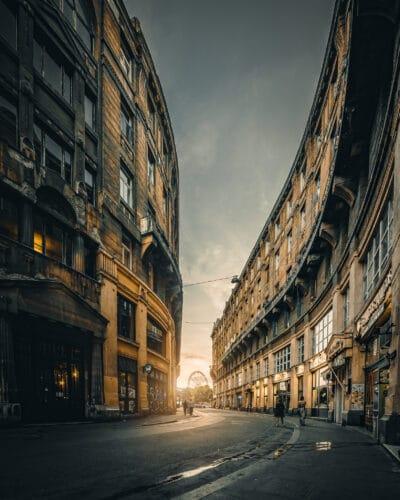 Budapest coucher de soleil grande roue ville Hongrie Geoffrey Lje