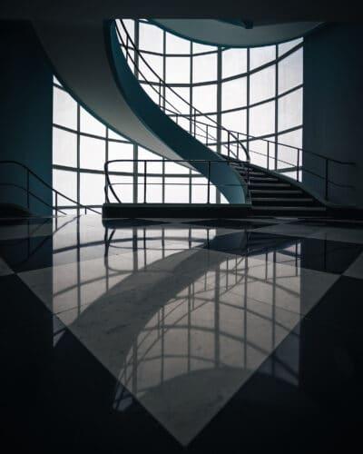 Escalier Den Bell Tower minimalism Moody geoffrey lje
