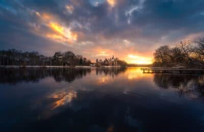 Château Marnix de Sainte-Aldegonde Sunset clouds reflexion belgium Geoffrey lje