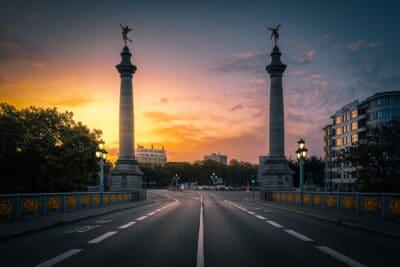 Vue depuis le pont de Fragnée, Liège lever du soleil anges Geoffrey Lje