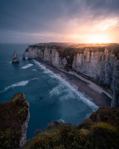 Vu sur les falaises d'Etretat France Geoffrey Lje