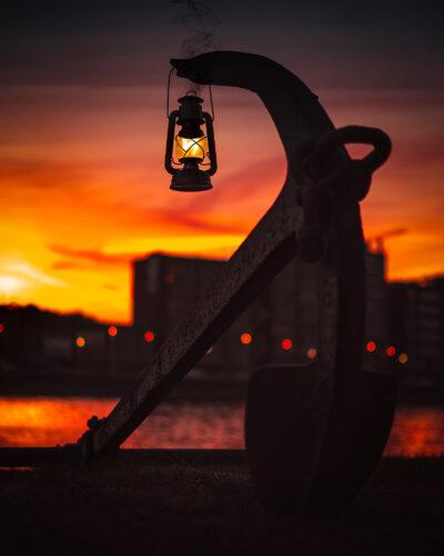 Encre Liège coucher de soleil Geoffrey Lje