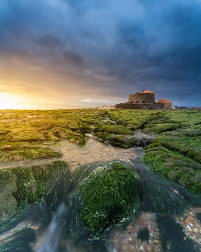 Fort d'Ambleteuse - Côte d'Opale france coucher de soleil mousse Geoffrey Lje