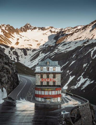 Hôtel Belvédère, Suisse col du furka montagne Geoffrey Lje