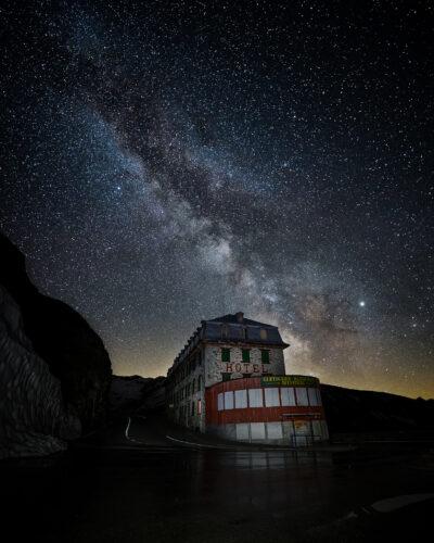 Hôtel Belvédère, Suisse voie lactée col du furka voie lactée Geoffrey lje