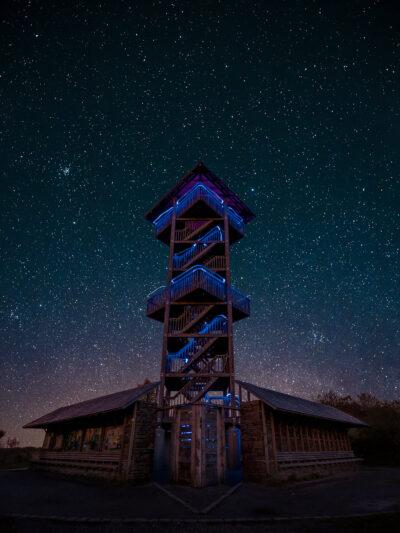 La tour de Berinzenne, Spa Belgique ciel étoilé Geoffrey Lje