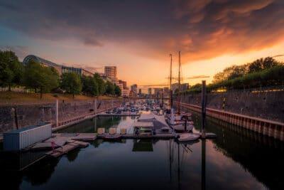 Mediaharbour Düsseldorf Port bateaux Geoffrey Lje
