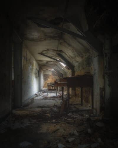 Un couloir bien dark urbex exploration urbaine abandonné Geoffrey Lje let's just explore